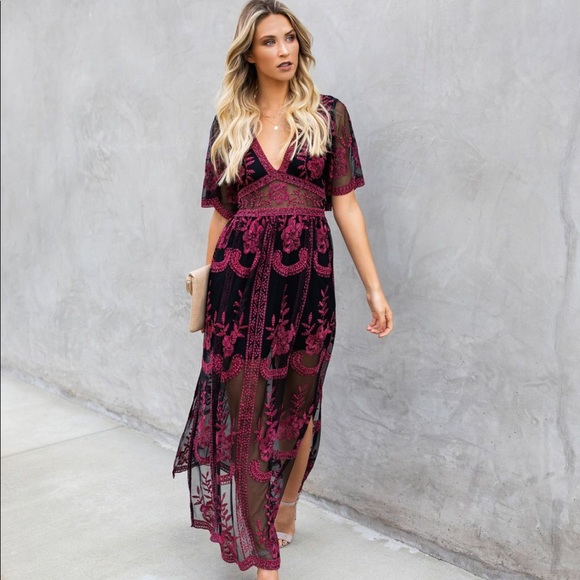 d307947ece Vici Dresses | Nwt Collection Kindled Flame Lace Maxi Dress | Poshmark